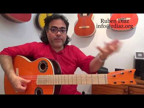Find intervals by shapes / Learn modern flamenco guitar / Ruben Diaz lessons / Skype