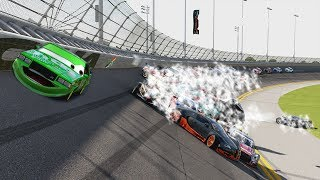 DINOCOS ALL MINE CRASH!!! (Attempt #1) | Forza Motorsport 6 | NASCAR Expansion