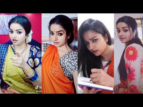 Nandhini Sun Tv Serial Ganga Latest Tamil Dubsmash Tik Tok | Nithya Ram Cute Tamil TikTok