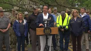 Governor Cuomo Tours Storm Damage In Putnam County And Issues Recovery Update