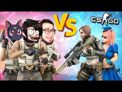 Парни против девушек, битва 3 на 2 | Кто же победит?! | Counter-Strike: Global Offensive