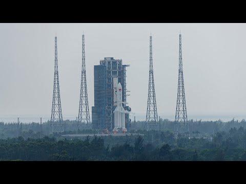 """中国国际电视台记者:""""天河""""号发射了中国的空间站雄心"""