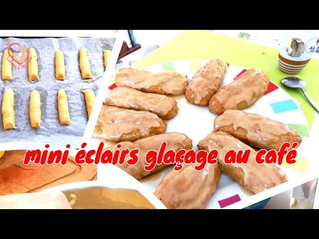 10 Mini-éclairs Glaçage Au Café