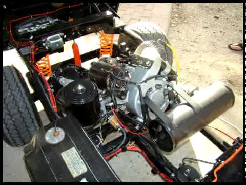 rebuilt harley davidson golf cart - youtube