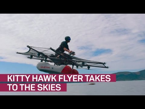 Larry Page shows off crazy 'flying car' Kitty Hawk (CNET News)