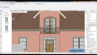 ARCHICAD  project home lessons 19. ( Декорирование фасада и карниз)
