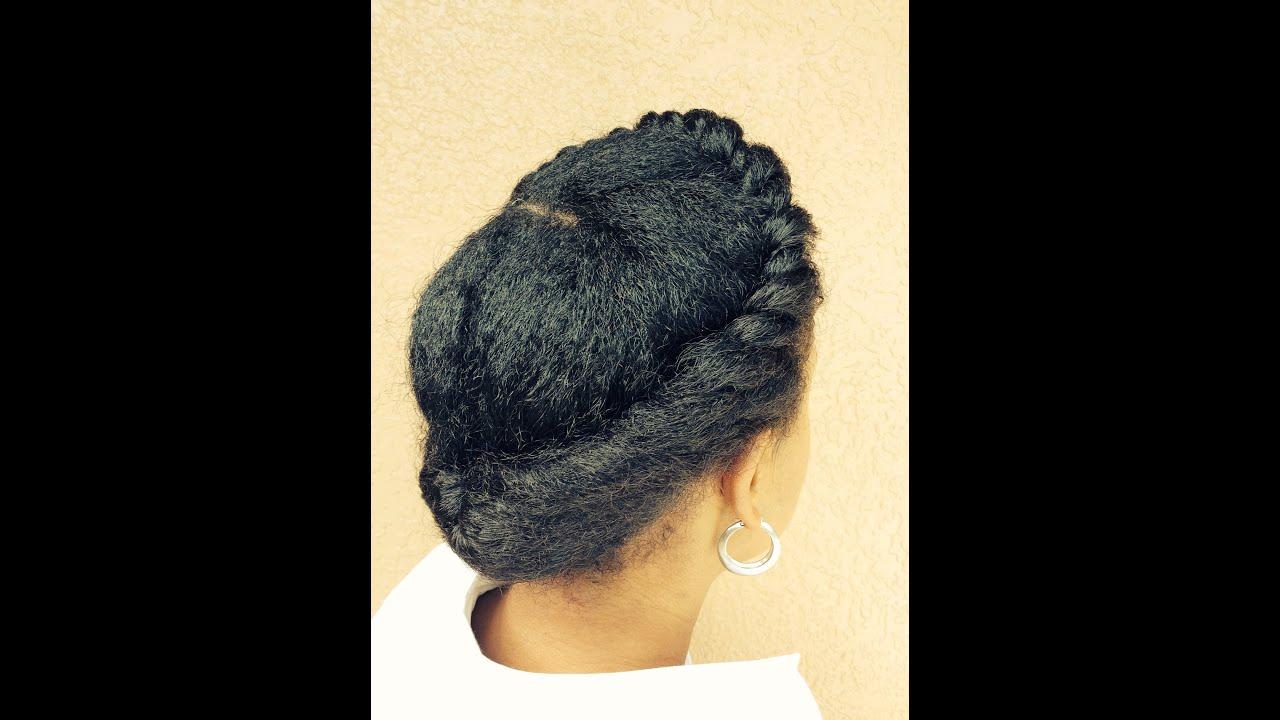 Natural Hair Protective Style Updo Short Medium Length Tutorial