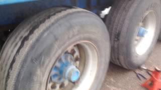 Стрельнуло колесо,  польская наварка. Потерял 40 мин в дороге
