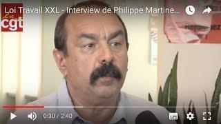 Loi Travail XXL - Interview de Philippe Martinez, partie 3