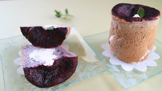 Blueberry Cupcake♡ It's tiny and fluffy and yummy.It makes a great ...