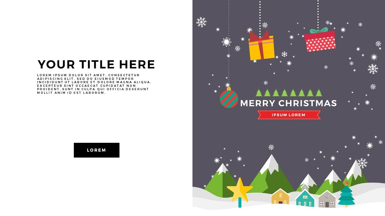 Free Download Animated Christmas Powerpoint Template Youtube