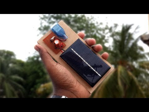 How to Make a Solar Powered USB Mobile Phone Charger - DIY