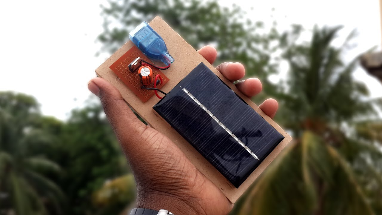 how to make a solar powered usb mobile phone charger diy youtube