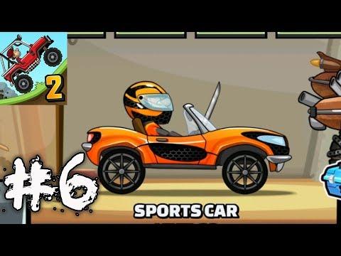 Hill Climb Racing 2 - SPORTS CAR Gameplay Walkthrough Part 6 (iOs, android)