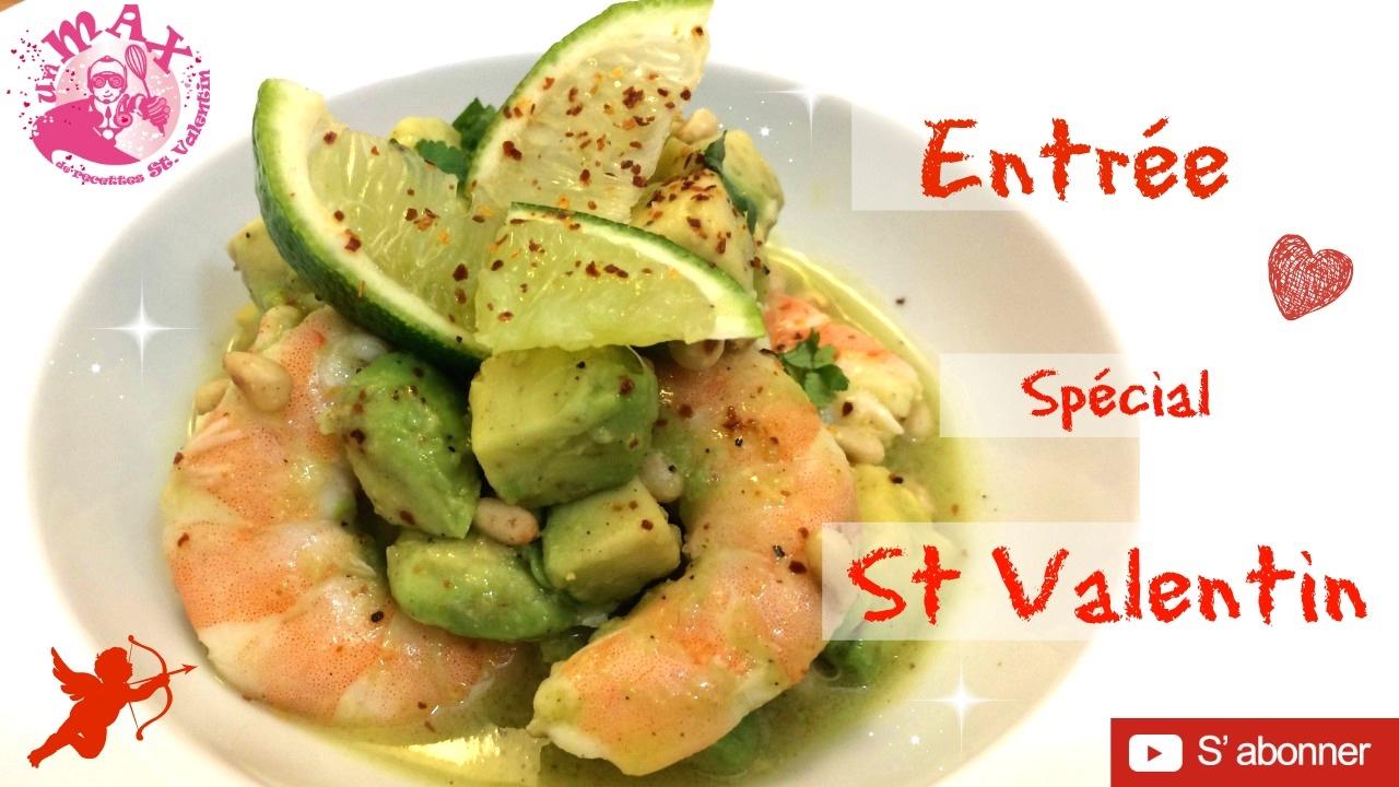 L 39 entr e du menu sp cial st valentin recette facile et for Entree facile et rapide