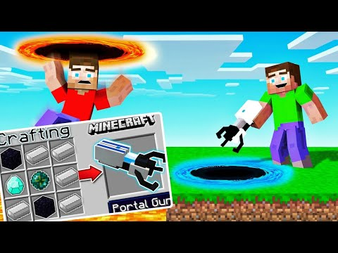 minecraft-hidden-portal-gun-|-portal-gun-foxingaming-x-mythpat