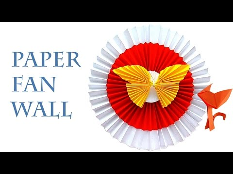 How to make a Paper Fan for the Room decorations? Origami Decor