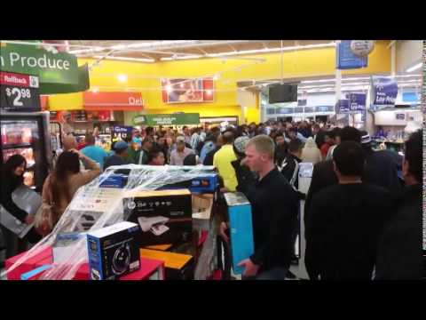 BLACK FRIDAY Started Early 2014 : CHAOS IN WALMART, Houston, Texas, November 27, 2014
