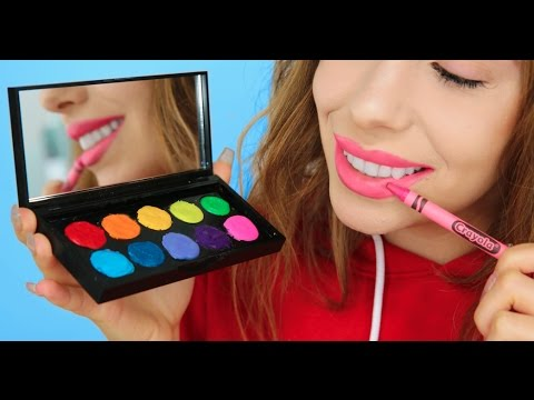 5 Ways To Turn Crayons Into Makeup!