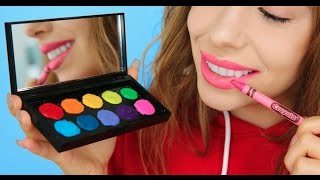 5 Ways To Turn Crayons Into Makeup! | Julia Gilman
