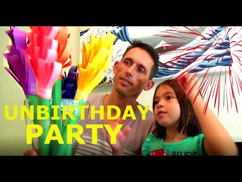 Mommy's Surprise Unbirthday Party DIY Paper Flowers How to Kids Videos family fun with the paynes