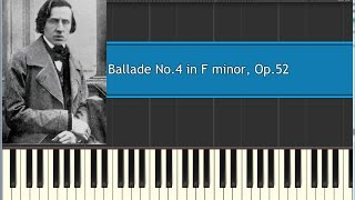 Chopin Ballade No 4 in F minor, Op 52 (synthesia)