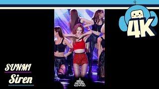 [4K & Focus Cam] SUNMI - Siren @Show! Music Core 20180922