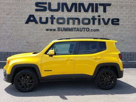 2018 Jeep Renegade Altitude Solar Yellow Fond Du Lac Oshkosh