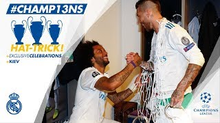 Ramos DRESSING ROOM celebrations with the CHAMPIONS! | Champions League Final