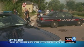 Shots fired after bicyclist hit by car
