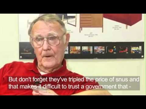 IKEA founder - Ingvar Kamprad, talks about Swedish snus
