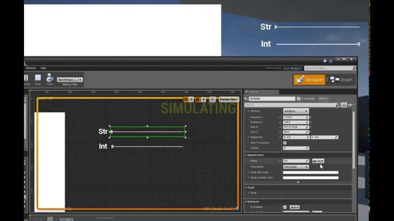 UMG UE4 - Binding Data To Sliders