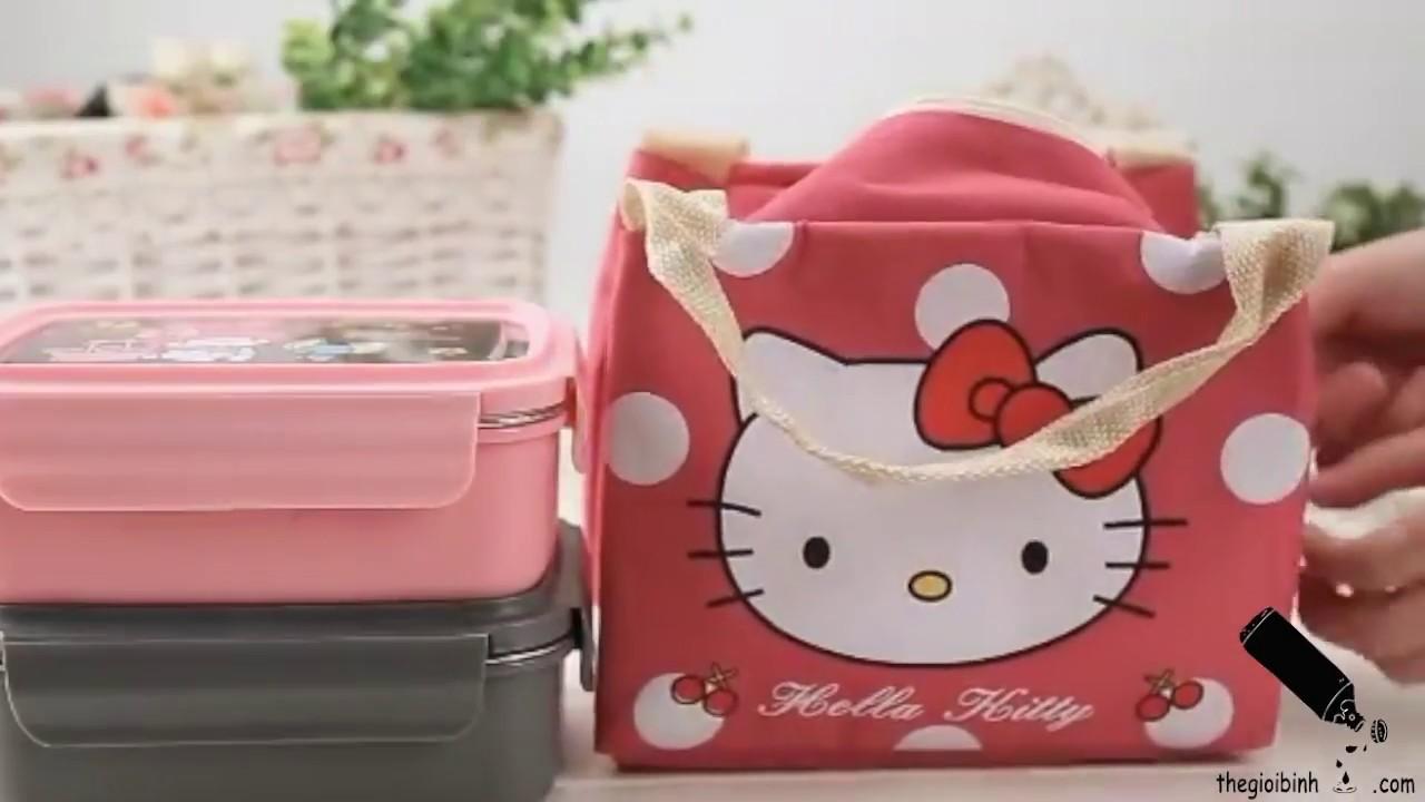 Túi Đựng Hộp Cơm Giữ Nhiệt Hello Kitty –  Túi Giữ Nhiệt Dễ Thương – Thế Giới Bình Nước