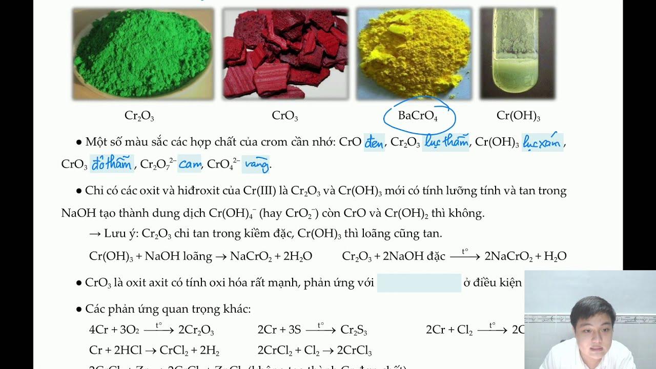 Lý thuyết về crom và hợp chất của crom