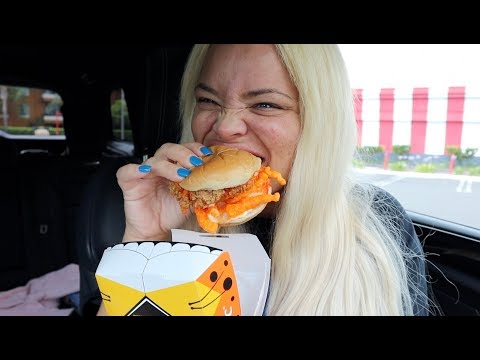 TRYING KFC'S NEW CHEETOS CHICKEN SANDWICH! thumbnail