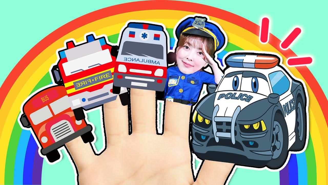 핑거패밀리송 Five Finger Family Vehicle kids Song  - Nursery Rhymes & Kids Songs 직업 차 핑거송 손가락가족 인기동요 [다니]