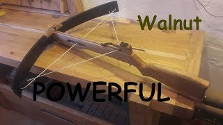Powerful walnut crossbow from skies (How to make it)