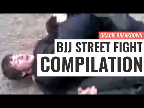 BJJ STREET FIGHT COMPILATION!!! Viking Choke, Russian Triangle, Failed Guard (Gracie Breakdown)