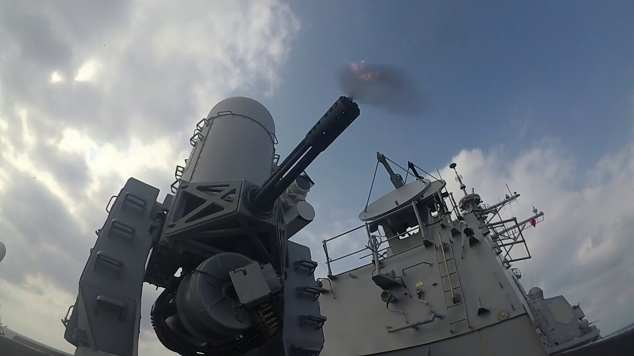 US Navy – USS Wayne – Close in Weapon System CIWS Live Fire