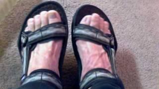 me putting on teva sandals