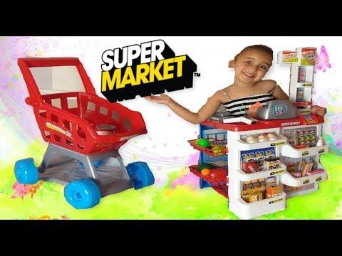 TOY SUPERMARKET Play Pretend Grocery Shopping-Mareva tube-KIDS-TOYS