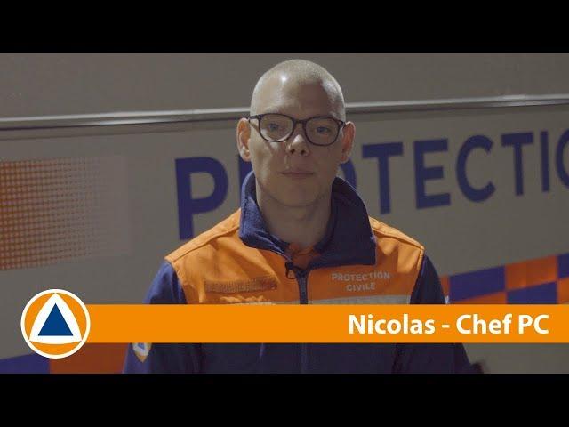 #NosMissions - Nicolas est chef PC à la Protection Civile