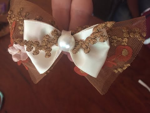 DIY    Craft Embroidery    How To Make Hair Bow