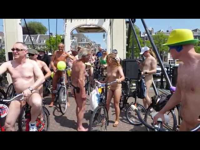 World Naked Bike Ride 2015 in Amsterdam