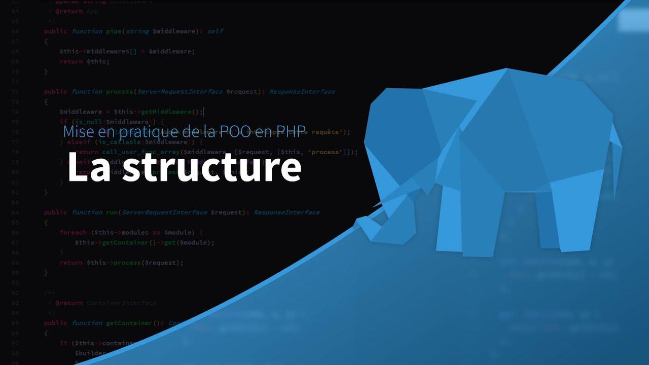 Mise en pratique de la POO en PHP (1/_) : Structure du projet
