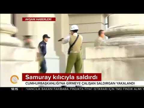 Müzeden samuray kılıcını çaldı devlet başkanlığı binasına saldırdı