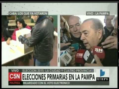 C5N - ELECCION 2015: VOTA EL GOBERNADOR EN LA PAMPA