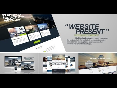 website presentation | after effects template - youtube, Presentation templates