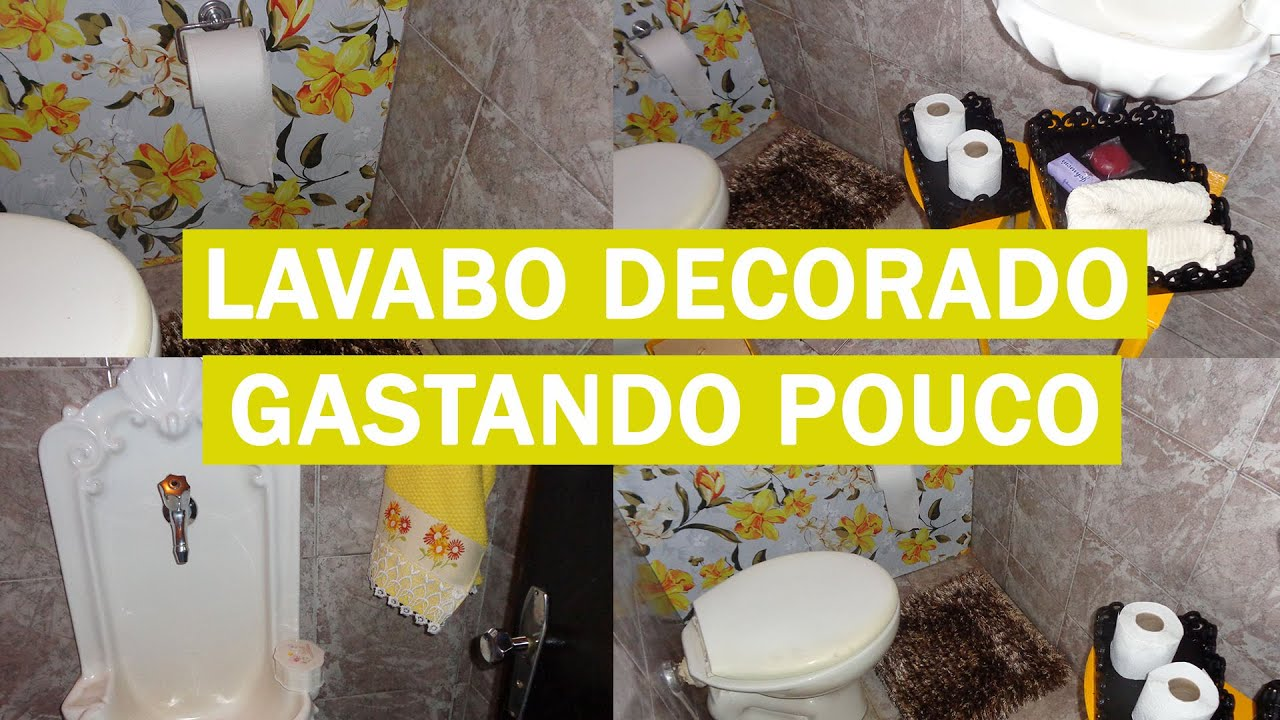 decorar banheiro pequeno gastando pouco:COMO DECORAR LAVABO PEQUENO GASTANDO POUCO – YouTube