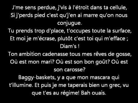 Diam's - Mélanie  ( Paroles, lyrics )